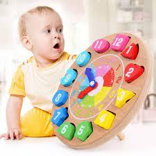 Đồ chơi xếp hình đồng hồ cho trẻ em đồng hồ dạy học bằng gỗ, bảng xếp hình  số, đồ chơi trẻ em giáo dục sớm - Sắp xếp theo liên quan