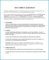 Nda Non Compete Template Free Non Compete Agreement Template Basic Clause Sample 7