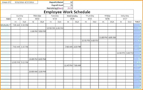 Excel Scheduling Spreadsheet Daily Schedule Template Excel Payment