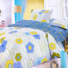 blue green flowers 100 cotton 5pc comforter set queen size