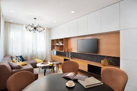 a mid century inspired apartment with