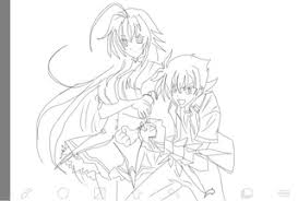 Small Picture High School Dxd Rias Sketch Coloring Page