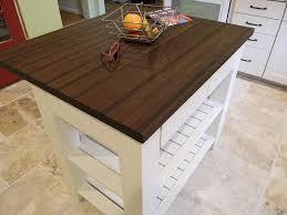 1 5 thick peruvian walnut edge grain countertop with 1 8 roundover edge treatment