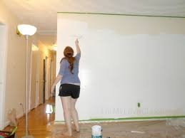On The Wall Painting Remodelaholic Diy Ombre Painted Hexagon Accent Wall
