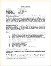 Hvac Engineer Resume Objective Cover Letter Examples Supervisor