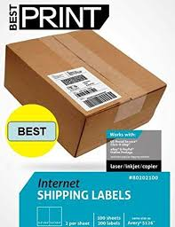 Hot Sale Digiorange 600 Shipping Labels White Blank Half Page Self