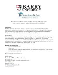 Sample Resume For Adjunct Professor Position Interesting Adjunct Faculty Position Cover Letter Sample Zonazoom