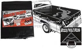 10' x 12' Black Poly Pickup & Dump Truck Tarp