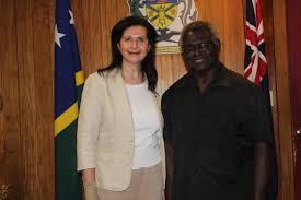 pm meets senator ferriavanti wells further discuss new policing prime minister sogavare and senator ferriavanti wells