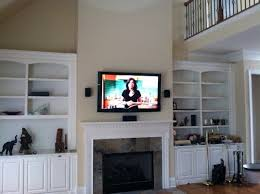 flat screen installation over fireplace