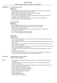 Cleaning Resume Samples Velvet Jobs