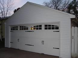 two car garage doorDetached Garage Facelift Carriage Door Opener Vinyl Siding