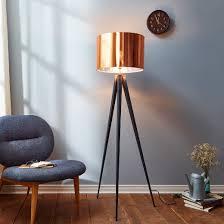 Versanora - Romanza Tripod Floor Lamp with Copper Shade