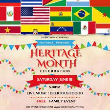 Hispanic Heritage Month Celebration Instagram Template