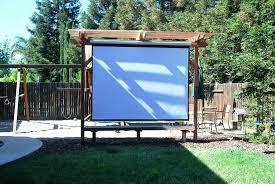 outdoor projector screen material