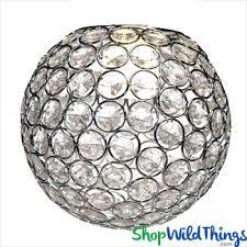 chandelier table decor lamp or vase topper tatiana crystal beaded sphere