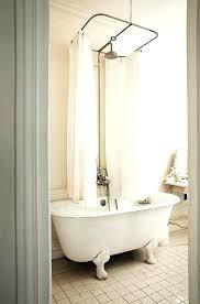 clawfoot bathtub shower curtain bathtub shower curtain centered shower curtain rod for original claw foot tub