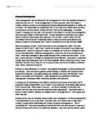 personal development essay   university social studies   marked by  page  zoom in