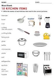 Kitchen Articles Chart Esl Kitchen All Things Topics