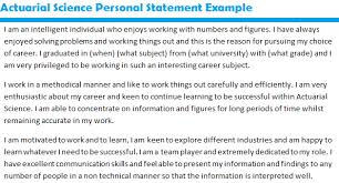 Personal Statement On Resume Impressive Personal Statement Cv Actuarial Science Example By D 44 D 44 R 44 E