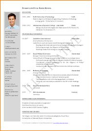 4 Curriculum Vitae English Example Pdf Cashier Resumes Modeles