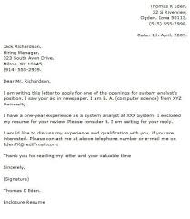 System Analyst Cover Letter It Analyst Cover Letter Examples Cover Letter Now