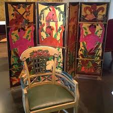 armchair by louis süe 1912 and painted screen by andré mare 1920