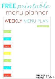 Printable Weekly Dinner Menu Family Menu Planner Template Heatsticks Co