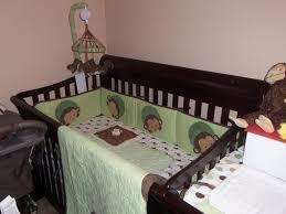 image of girl monkey crib bedding set design decors