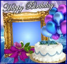 Happy Birthday Frame From Wwwimikimicom Add Photo Heureux