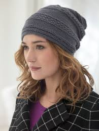 Free Knitted Hat Patterns Unique Knitting Patterns Galore Seed Banded Slouch Hat