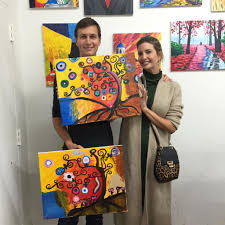 ivanka trump and jared kushner try their hand at painting courtesy of ivanka trump via