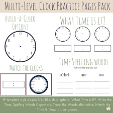 Multi-Level Clock Practice Worksheets | The Fervent Mama