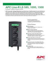 <b>APC</b> Line-R LS 595, 1000, 1500