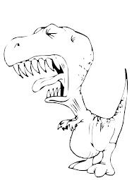 Disegno Di Tirannosauro Da Colorare Per Bambini