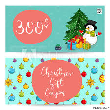 Christmas Gift Coupon Christmas Gift Voucher Template Gift Coupon With Xmas