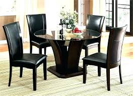 glass dining table set 4 chairs dining table set round
