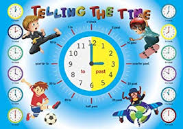 Childrens Dvd Chart Telling The Time Poster Educational Wall Chart Kids Poster Classroom School Kids Room Poster Boys Child A4 Or A3 170gsm Gloss Quality