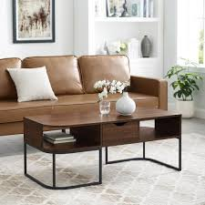 large rectangle wood coffee table