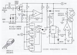 sound frequency meter circuit sound frequency meter circuit diagram