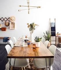 new darlings dining room mid century interior style cowhide rug