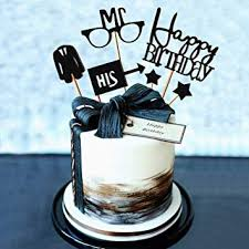 Amazoncom Set Of 6 Jevenis Gentleman Birthday Cake Topper Husband