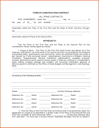 Construction Contract Format Template Building Quotation Template Agreement Format Free Forms 12