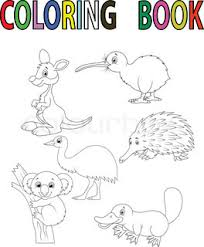 Small Picture Animals of Australia Stock Vector Colourbox