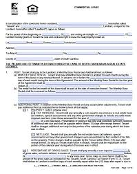 Free Commercial Lease Agreements Forms Free Commercial Lease Agreement Form Toptier Business
