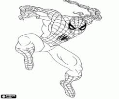Small Picture Spiderman or Spider Man coloring pages printable games