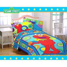 sesame street comforter set valance toddler bed bedding sheet sets elmo toddlers scribbles piece sears