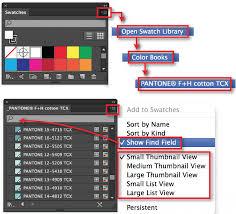 Adobe Pantone Color Chart Where Are The Pantone Colors In Adobe Illustrator Courses