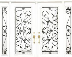 wrought iron glass doors