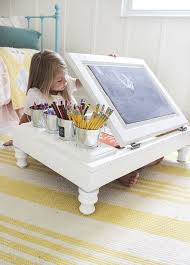kitchen cabinet into a child s desk diy painted furniture repurposing upcycling woodworking projects